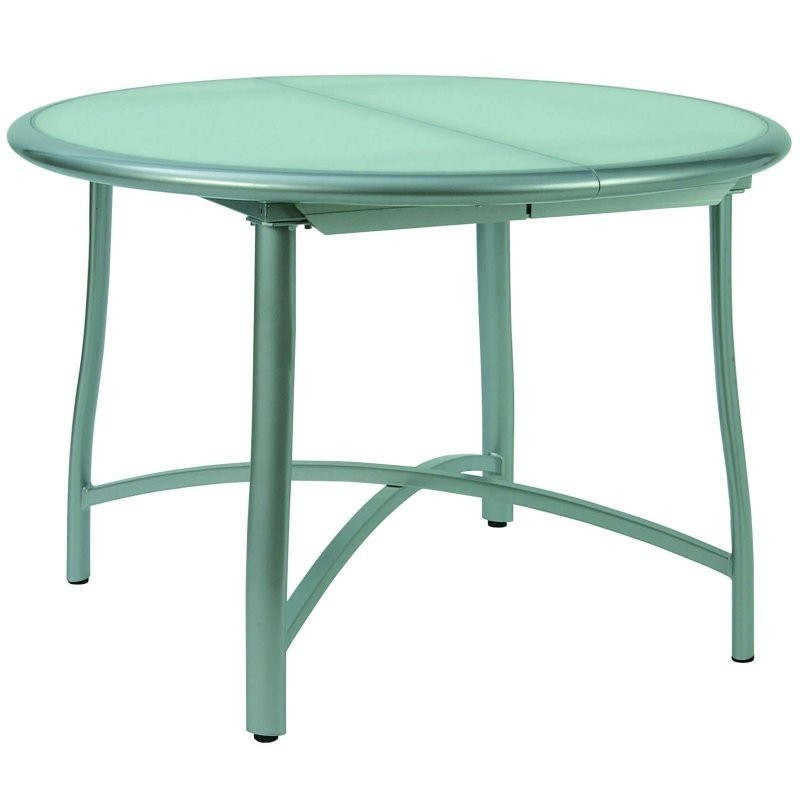 Rivage Round Patio Dining Table Extendable 43 67 Inch