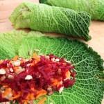Savoy Cabbage Leaf Wraps