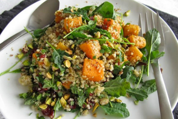 Roasted Butternut Squash and Quinoa Salad -