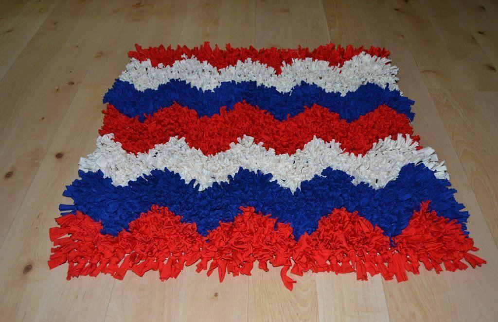 C mo hacer una alfombra de trapillo patronesmil - Como hacer alfombras de trapillo redondas ...