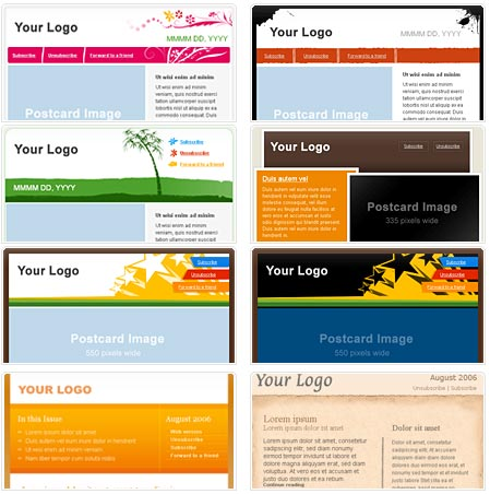 100+ Free HTML Email Newsletter Templates - Patternhead - news letter formats