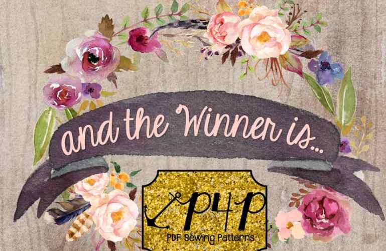 And the Winner is…. P4P Sew it, Win it, Build it Giveaway!