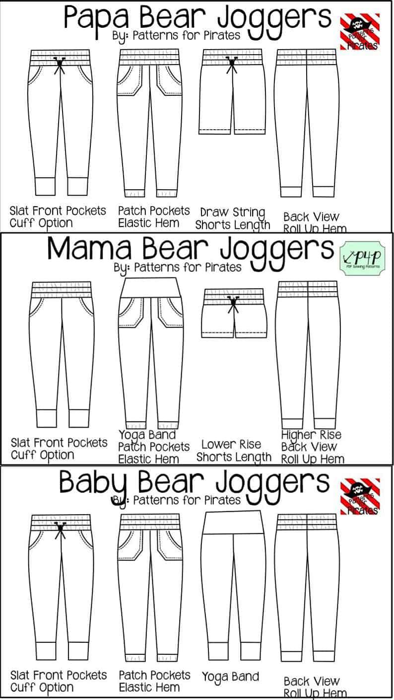 joggers-line-drawing