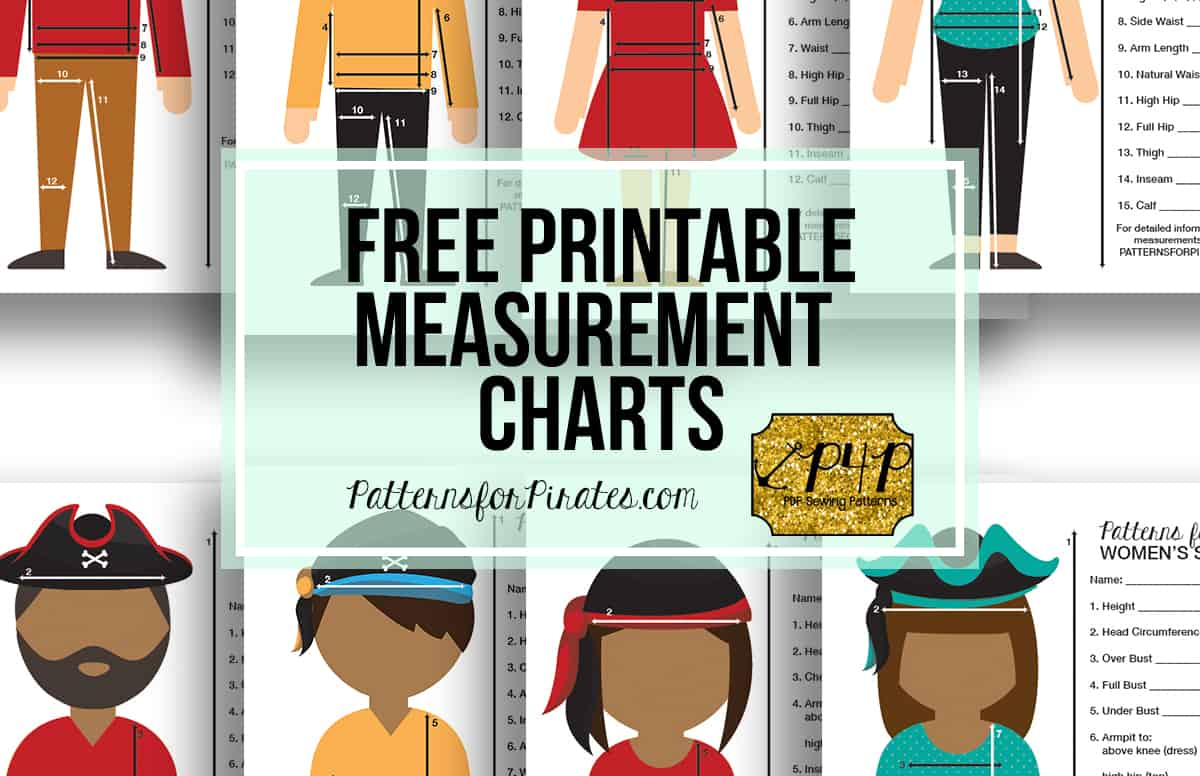 blank measurement chart