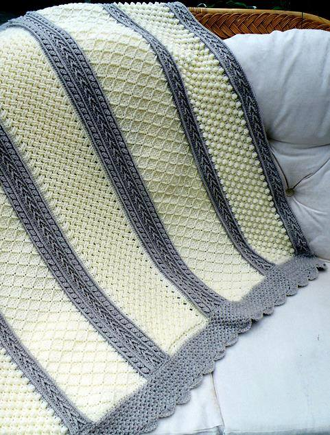 6 Stitches Aran Throw Free Crochet Pattern Patterns Valley