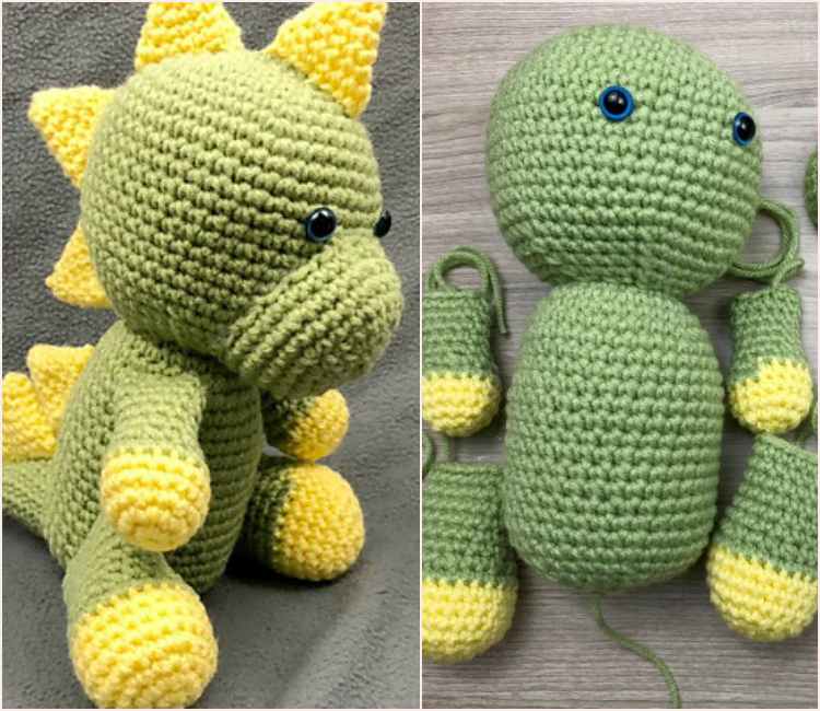 Adorable Amigurumi Dinosaur Softie Crochet Pattern