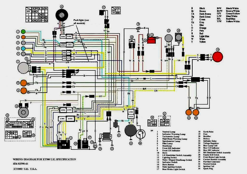 Xt 500 Wiring Diagram - Wiring Diagram Schematic
