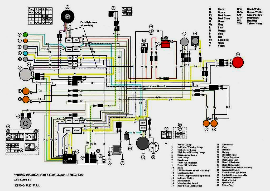 Xt 500 Wiring Diagram Wiring Diagram