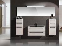 Design Badezimmermbel - Set mit Glaswaschtisch und ...