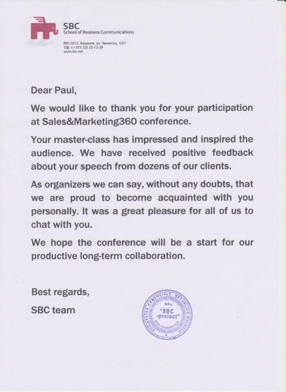 Follow Up Letter After Meeting At A Conference Andrian James Blog
