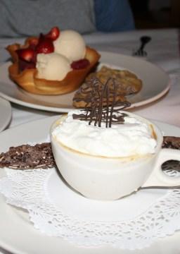 Caramel pot de crème and gelati