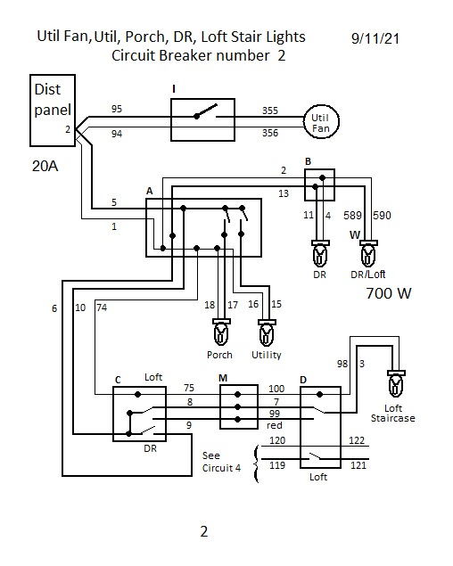 House 122 Wiring Schematic Diagram