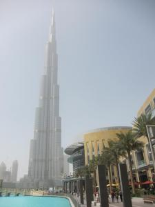 Burj Khalifa -- hazy day, which matters at that height!
