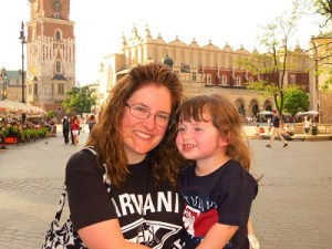 Libby and Emerson in Krakow...