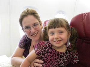 Libby and Emerson ready to fly Asia...