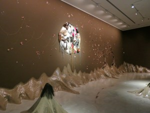 View of Wangechi Mutu's installation at Sydney's MOCA