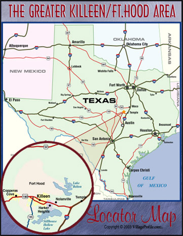 Fort Hood Texas Map