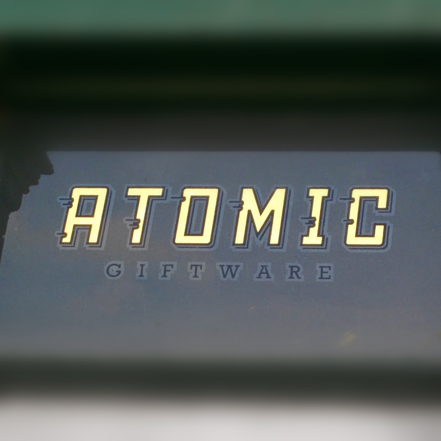 Gold Leaf Sign - Atomic Gifts