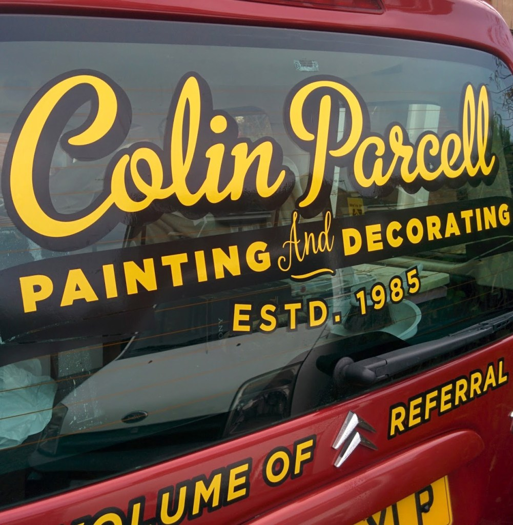Vehicle Sign - Colin Parcell