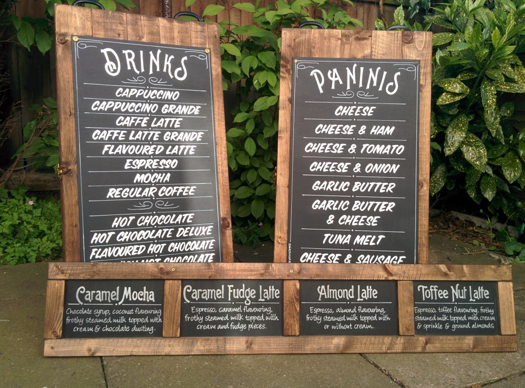 Rustic Chalkboard Menu Sign Writing