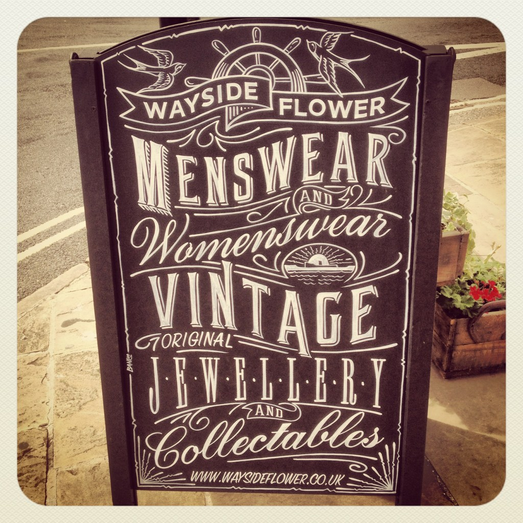 Wayside Flower Chalkboard Sign