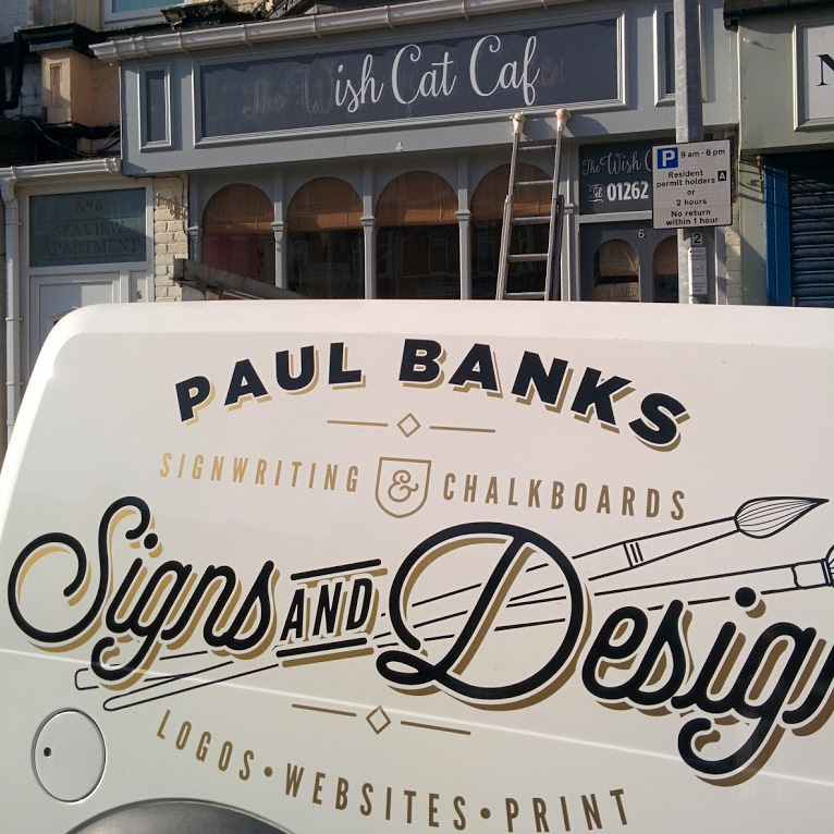 Cafe facia signs and Chalkboards in Bridlington