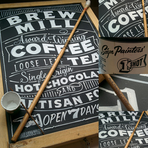 chalkboard sandwich board signwriting