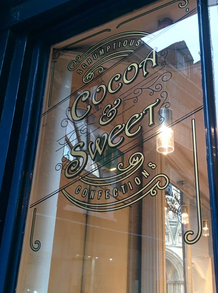 cocoa and sweet window signs york