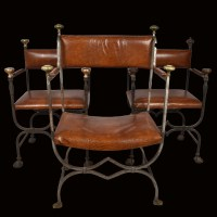 3 forged iron chairs | Paul de Grande Antique