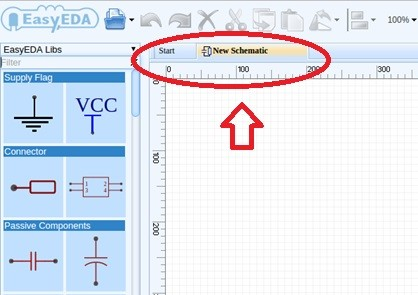 Fig. 3 – Tela do Editor de Esquemáticos