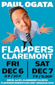 Paul Ogata @ Flappers Comedy Club - Claremont | Claremont | California | United States