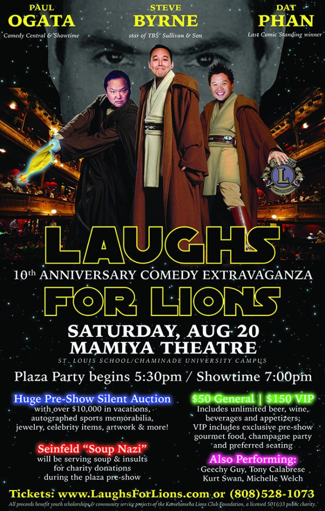 Laughs For Lions 10 with Paul Ogata, Steve Byrne and Dat Phan