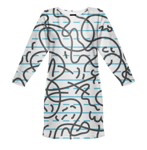 Paul S OConnor cursive sweatshirt dress Print All Over Me
