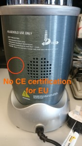Fake NutriBullet  No EC Certifications