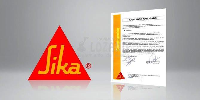 aplicador aprobado Sika Pavimentos Lozano