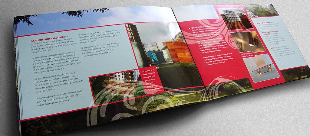 Central park property brochure design - property brochure