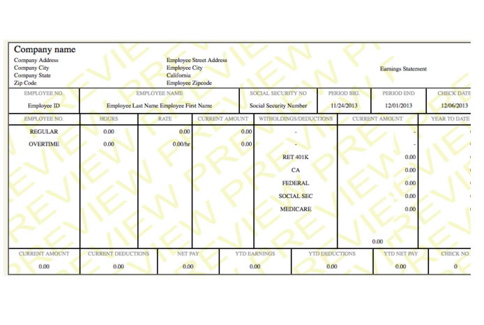 NEAT paystub paycheck template - PayCheck Stub Online - check stub template
