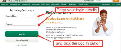 It doesn't take long to apply on – many times; it's quicker than visiting an actual ACE Cash ...