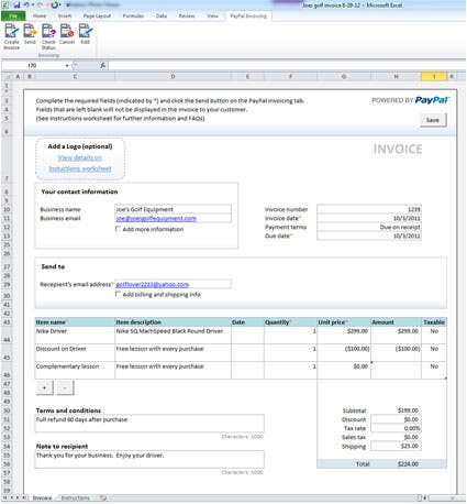create invoice template in excel