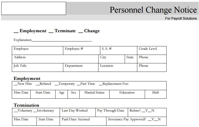 Business Forms u2013 Raleigh, NC Accounting Services u2013 Payroll Solutions - employee change form
