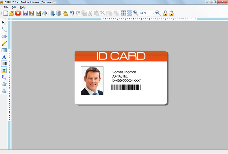 ID card design software make student collage employee cards - student identification card