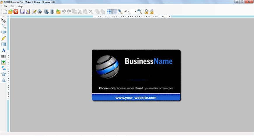 Business card maker software make visiting corporate commercial