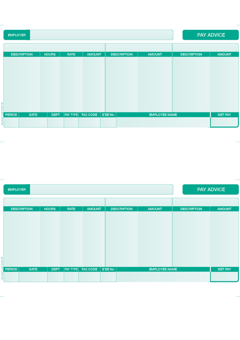 Free Payslip Template Uk – Template for Payslip