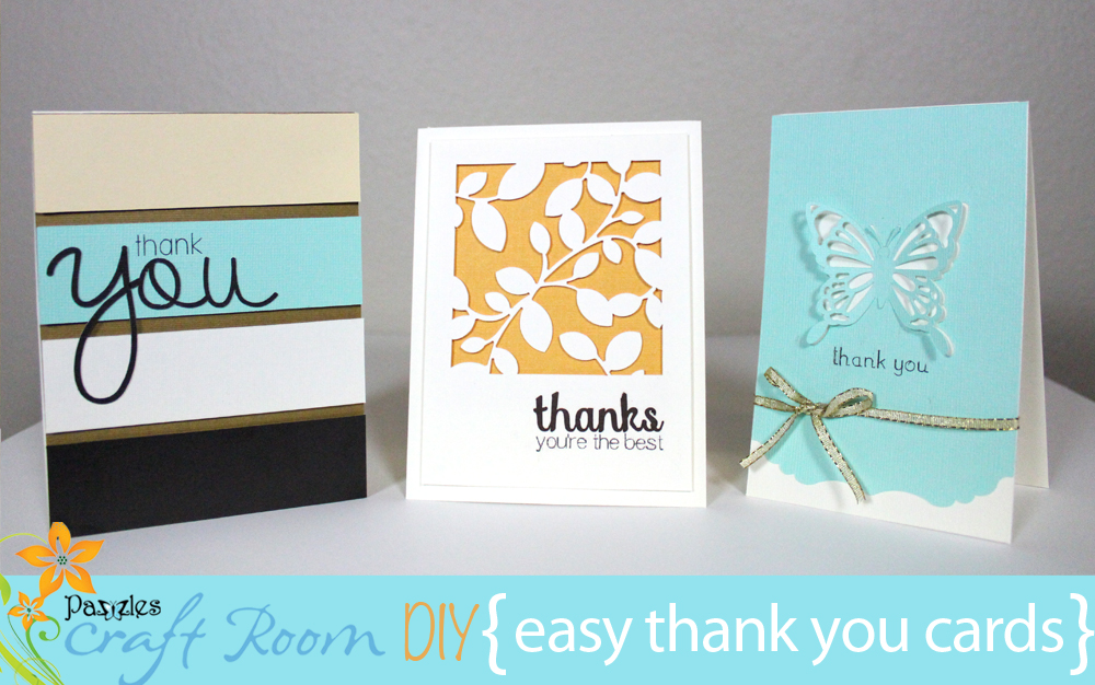 Easy Thank You Cards Collection AI, SVG, and WPC files - Pazzles