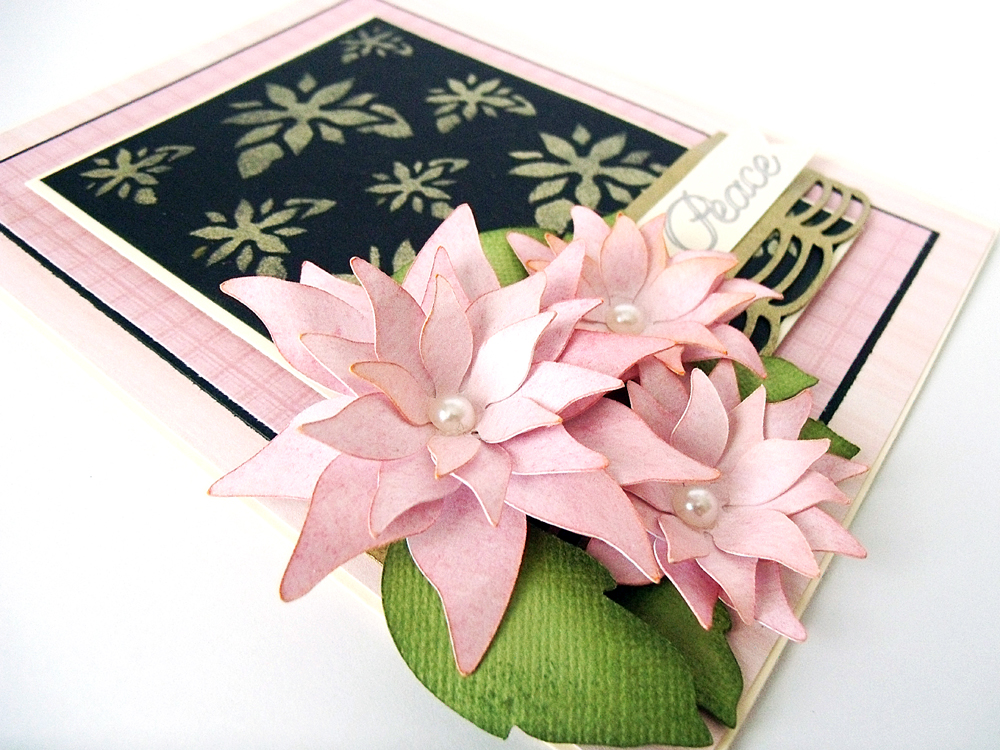 Poinsettia Card - Pazzles Craft Room