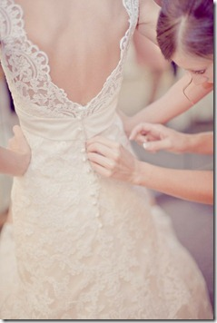 delicate wedding dress