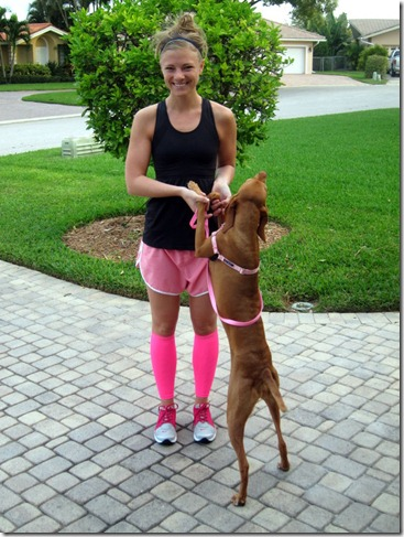 compression sleeves pink 002