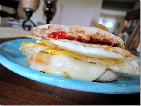 english muffin sandwich