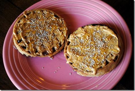 vans waffles peanut butter honey chia