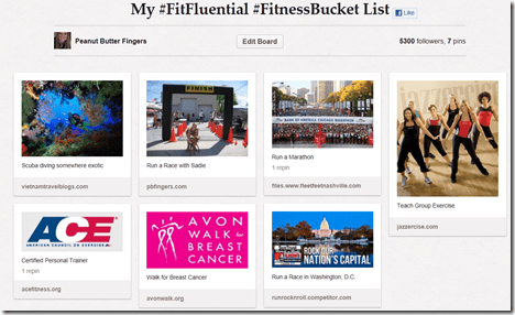 fitness bucket list